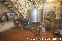 Used-Breddo 300 Gal. Stainless Steel Likwifier, Model # LOR, Serial # 315752-1 0540065, with Reliance 60 hp Offset Motor, 17...