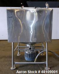 Used- Breddo Likwifier, Approximately 300 Gallon, Stainless steel, Jacket.