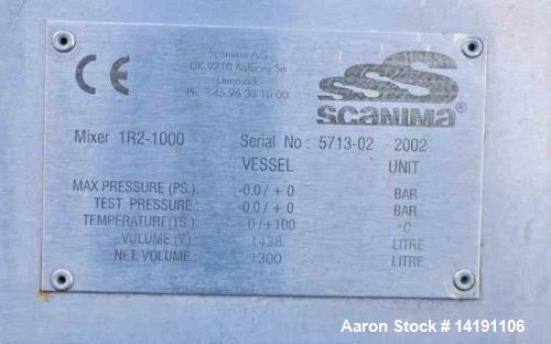 Used- Tetra Pak Scanima 1R2-1000 Likwifier