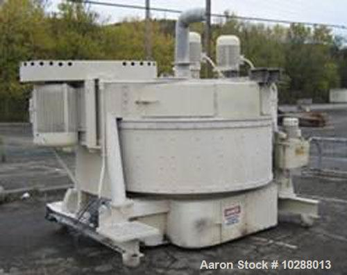 Used-Eirich Model DE22 Mixer. Built 1974, 54 cubic feet working capacity, 80 cubic feet total capacity. High speed rotor, 75...