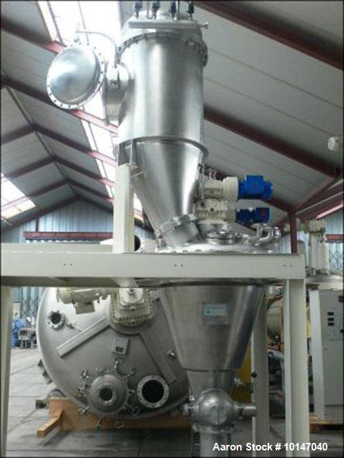 Used- Stainless Steel Hosokawa Micron Europe 3-VDC-02 Conical Dryer