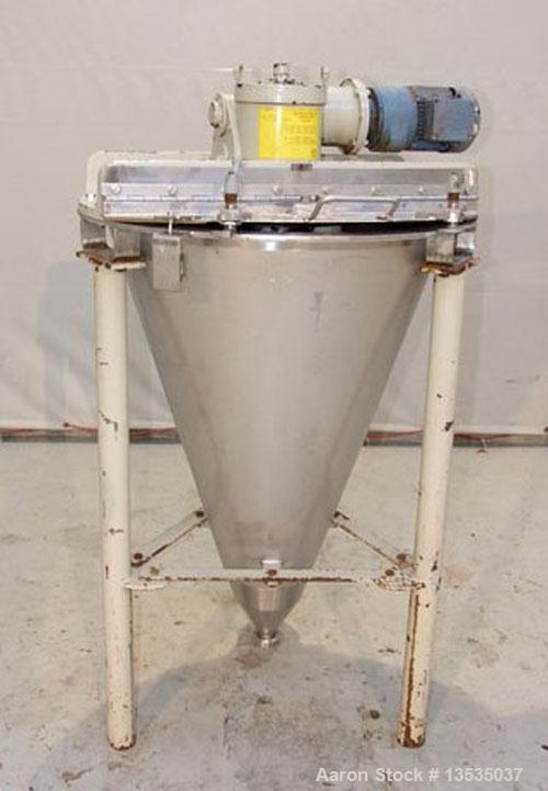 Used-Hosokawa Nautamix Conical Screw Mixer, model VIS, stainless steel. Total capacity 4.2 cubic feet (120 liter), working c...
