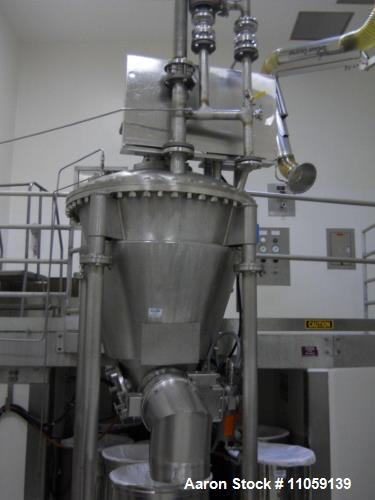Used- 7 CubicFoot (approximately) (200 Liter) Day Nauta Processor Vacuum Dryer/Mixer/Conical Dryer, Model FA 7 DAYNAUTA. San...