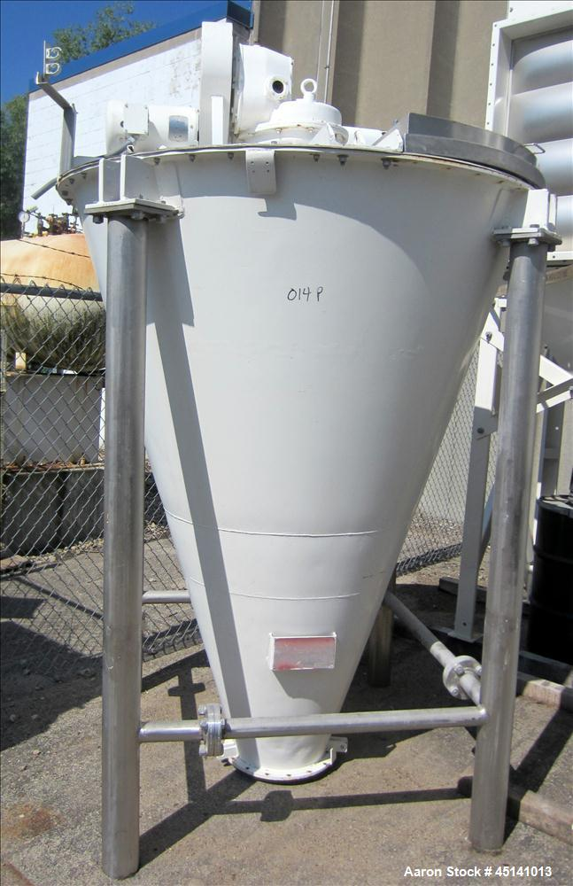 Used- Hosokawa Vrieco Stainless Steel Nauta mixer, Machine # M18955
