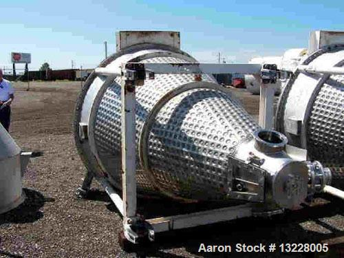 Used- JH Day Nauta Dryer-Mixer, 70 Cubic Feet, Stainless Steel. 40 HP main drive, 2 HP drive for orbiting of screw, internal...