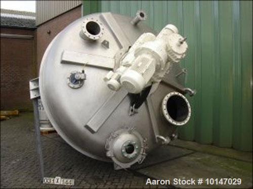 Used- Stainless Steel Vrieco T-60 RB-12 Conical Mixer/Dryer