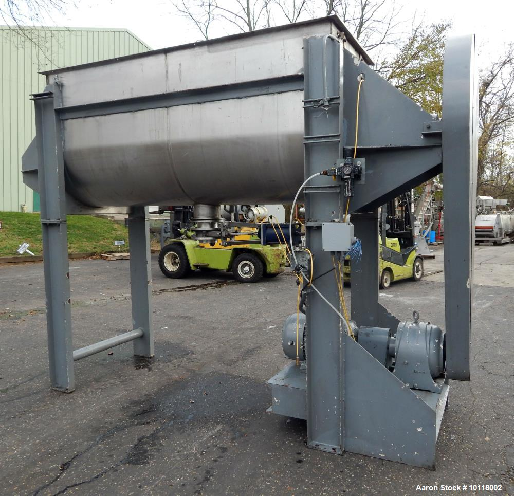 Used- Aaron Process 70 Cubic Foot Stainless Steel Sanitary Paddle Blender, Model