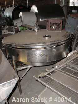 """Used- Albany Engineered Systems Fine Curd Cheese Saver, Model 3865, Stainless Steel. Approximate 48"""" diameter. Agitator padd..."""
