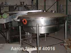 """Used- Albany Engineered Systems Fine Curd Cheese Saver, Model 3865, Stainless Steel. Approximately 48"""" diameter. Agitator pa..."""