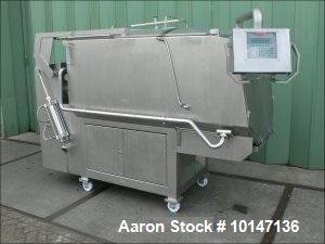 Used-Alco Food Machines AMP-1000H Double Shaft Paddle Mixer.  Stainless steel construction, capacity 35 cubic feet (1000 lit...