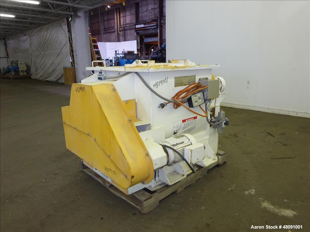 Used- American Process Systems (Forberg type mixer) Twin Shaft Paddle Mixer