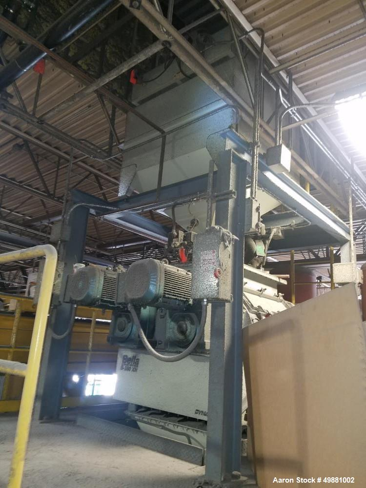 Used- Bella Fluidized Zone Mixer, Model B-350XN. Dual direct drive. 12.36 cubic feet batch capacity. (2) 5 hp motors. Approx...
