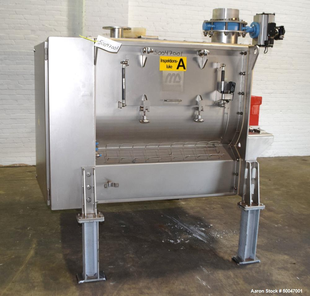 Used- Dinnissen Pegasus Twin Paddle Mixer, Type 305-500-7,5.