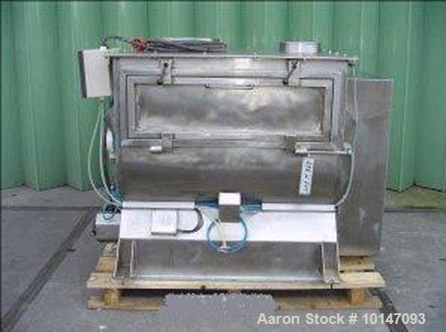 Used- Stainless Steel Halvor Forberg 787 (F-500) Double Shaft Paddle Mixer, capacity 17.7 cubic feet (500 liters)