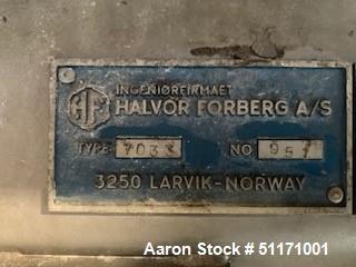 Used- Halvor Forberg AS Batch Paddle Blender/Mixer