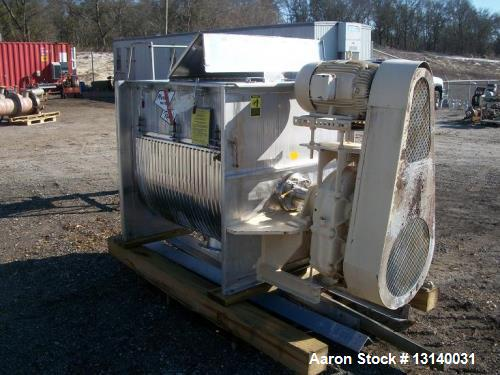 Used- Marion Paddle Mixer, approximately 35 Cubic Feet., Model 6041. 304 stainless steel, jacketed. Trough dimensions are 48...