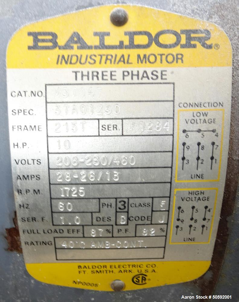 Used- Marion Paddle Mixer, Model 6041, 304 Stainless Steel.