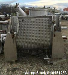 Used- Marion Paddle Mixer, Model FP-3648. 30 Cubic foot working capacity. 304 Stainless steel. Jacketed trough measures appr...