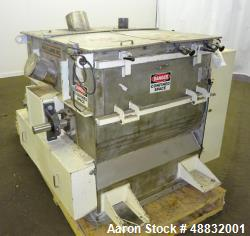 Used- Paul O. Abbe Twin Shaft Fluidizer, Model AF350, 304 Stainless Steel.