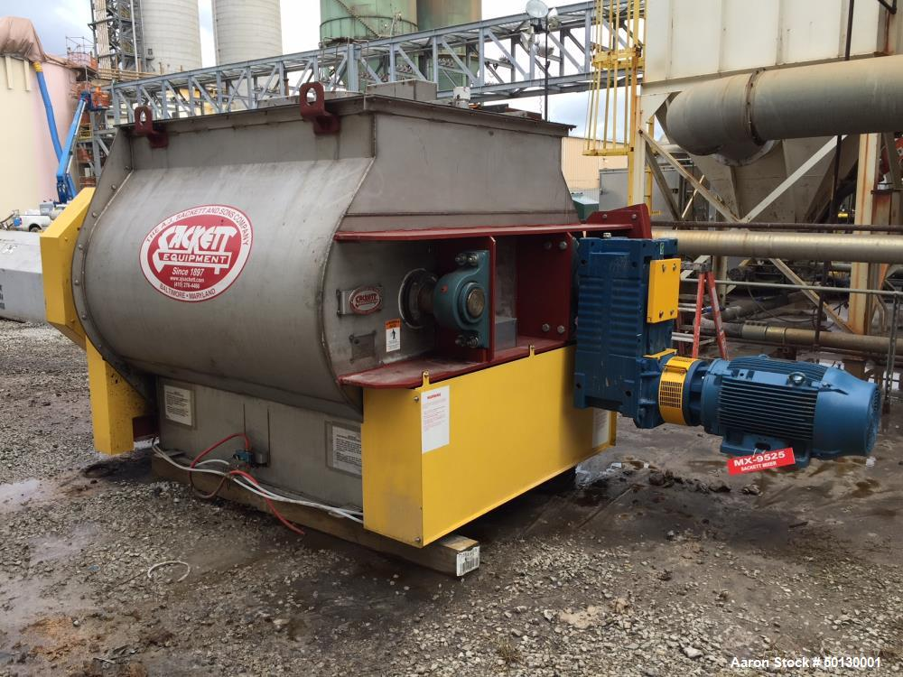 Used- A.J. Sackett Equipment High Intensity Twin Shaft Paddle Mixer