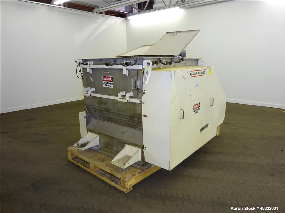 Used- Paul O. Abbe Twin Shaft Fluidizer, Model AF350