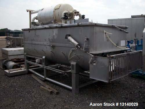 """Used- RMF Double Paddle Blender, Model 28-10000. 304 stanless steel, 200 cubic feet. Inside dimensions: 152"""" long x 72-3/4"""" ..."""