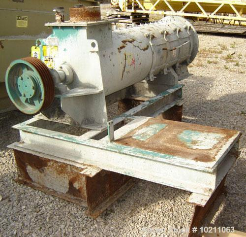 Used-10 Cubic Foot Scott Equipment Pin/Paddle Mixer, Model HSB2072. With 5 belt sheave but no motor included. Unit was previ...