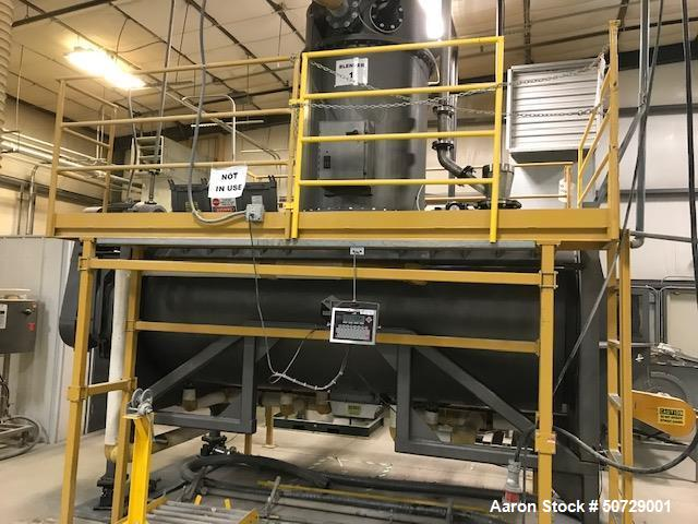 Used- Scott Indirect / Vacuum Paddle Dryer, 191 Cubic Foot, 304 Stainless Steel.