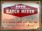 Used- HC Davis Paddle Mixer, Model S160A