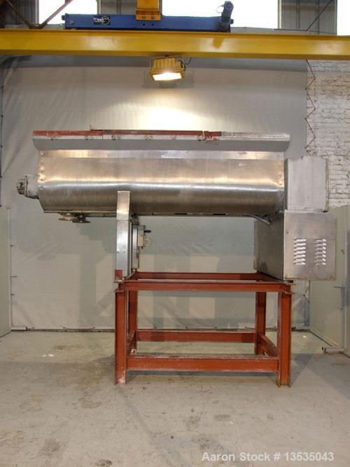 Used-Torrelli Horizontal Paddle Mixer, stainless steel, working capacity 56.5 cubic feet (1600 liters) double bottom bowl, t...