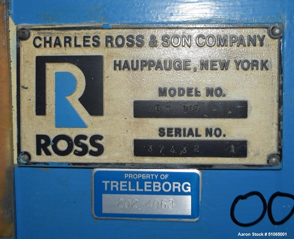 Used- Ross Double Planetary Mixer, Model HDM 100