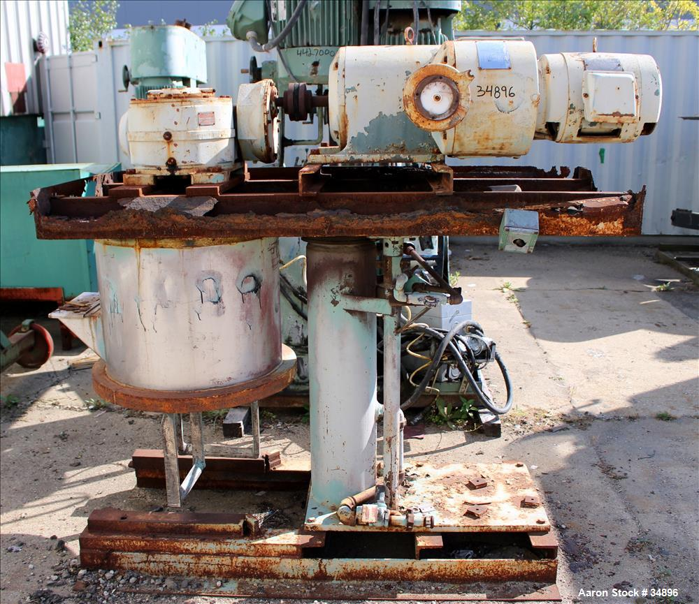 Used- Stainless Steel Ross Double Planetary Mixer, Model HDM-25, 5-25 gallon working capacity