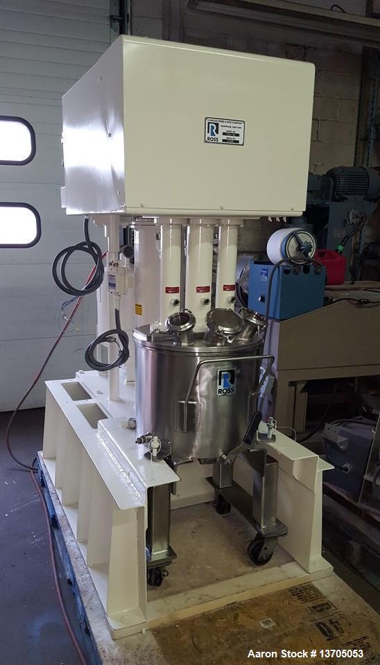 Used- Ross Model PVM-10 Versamix. Triple shaft design. Jacketed. Vacuum. 10 gallon working capacity. 15 gallon total capacit...