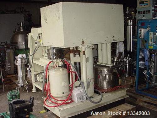 Used-Ten Gallon Ross Model PVM 10 Triple Shaft Mixer. Stainless steel construction. 1.5 hp rotor/stator, 3 hp sweep, 5 hp di...