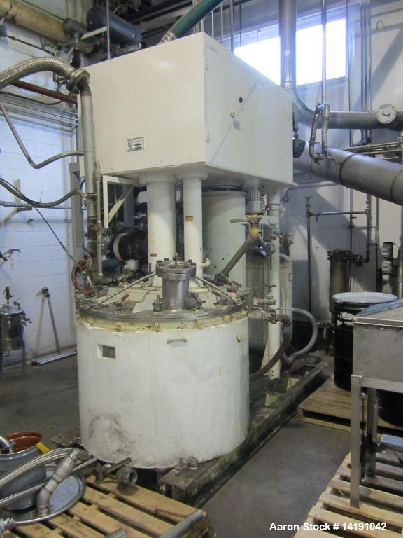 Used- 200 Gallon Ross Versamix, dual shaft, vacuum, jacketed, 316 stainless steel, model PVM-200