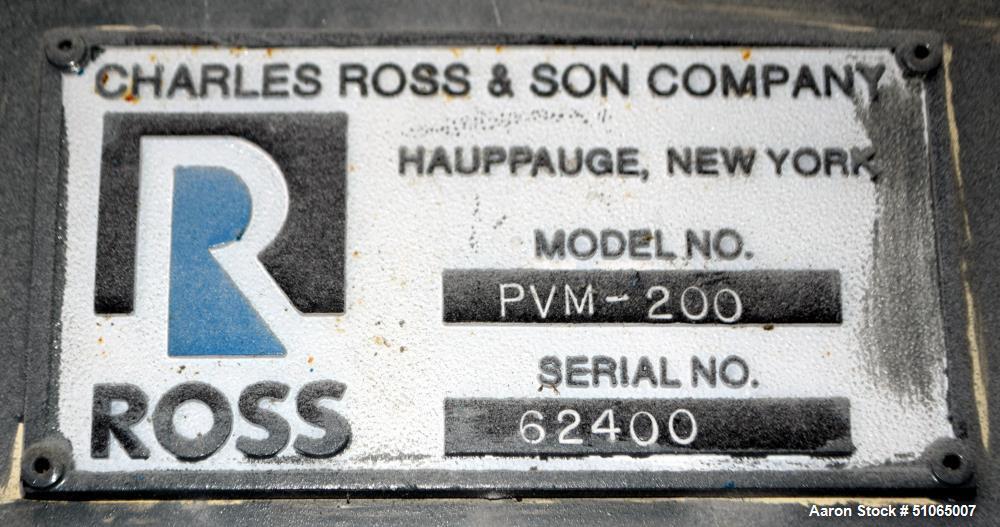 Used- Ross Versa Mixer, Model PVM-200