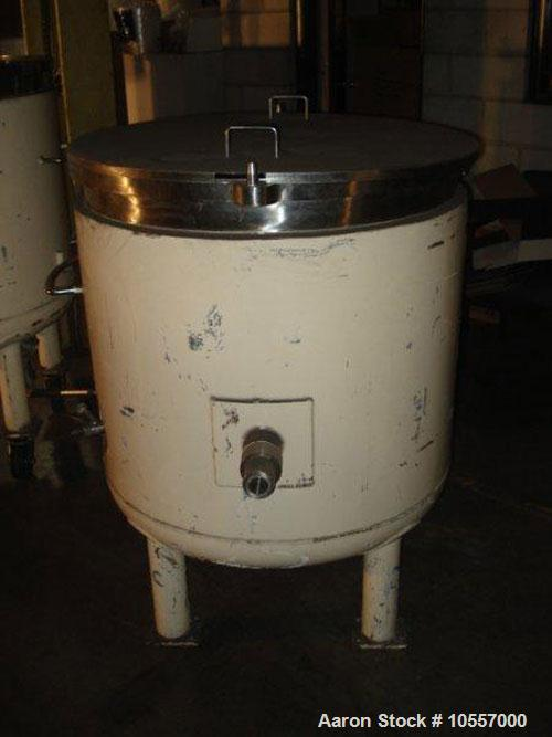 """Used-Fryma Model 400 Vacuum Mixer.  Includes (2) jacketed mixing tanks measuring 33.25"""" diameter x 38"""" deep.  Agitation has ..."""