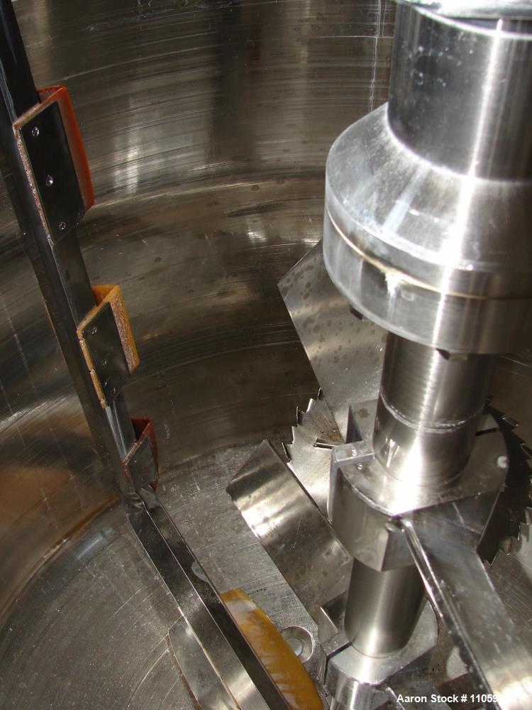 Used- 2400 Liter Fryma VME-2400 Vacuum Processing Vessel. Sanitary construction, 2400 Liter (630 Gallon) working capacity. W...