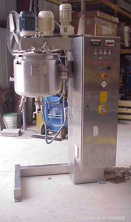 Used-Fryma Vacuum Processing Intensive Mixer, Model VME-150, 50 liter (13.2 gallon).  Internal rated 1 bar, vac @ 150 deg C....