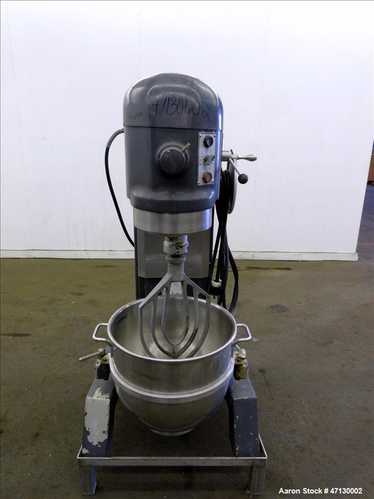 Used- Hobart All Purpose Mixer, Model H-600T, 60 Quart Capacity.