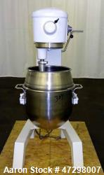 "Used- Hobart Mixer Model D300T, 30 Quarts(7-1/2gallon), 304 Stainless Steel. Approximate 14-1/2"" diameter x 12-1/2"" deep wit..."
