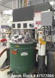 "Used- Myers Dual Shaft Vacuum Mixer, Model V550AH-20-30-1539. The mix cans measure 44"" ID x about 46"" deep which results in ..."