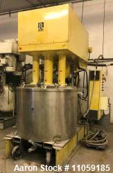 Used- Ross Model PVM300 Triple Motion Stainless Steel Mixer. Mixing capacity 150 to 300 gallon. Full capacity 398 gallon. St...