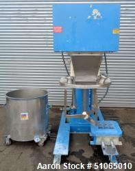 Used- Ross 40 Gallon Stainless Steel Triple Shaft Change Can Vacuum Mixer