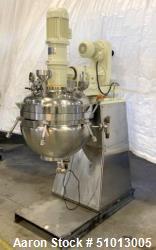 "Used- Ross Vacuum ""Turbo Emulsifier"" Reactor/Kettle, Model TE3-100"
