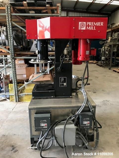 Used- Premier Mill Dual Shaft Vacuum Mixer, 2 Gallon. Model ESD/V-2/1