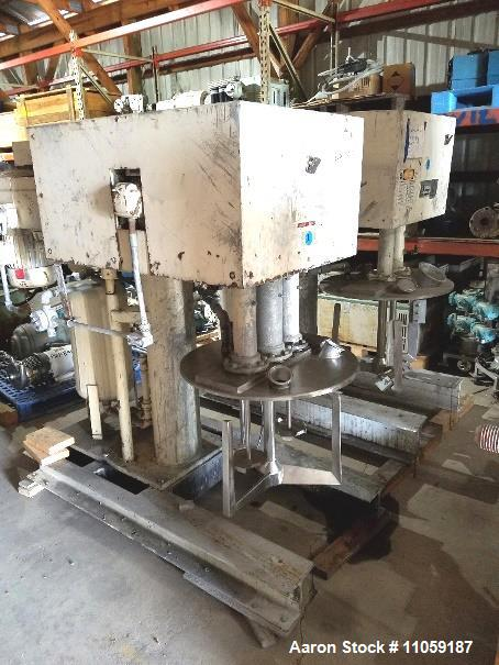 Used- Ross Model PVM 40 triple motion stainless steel Vacuum rated mixer. 40 gallon. Stainless steel jacketed change can 50 ...
