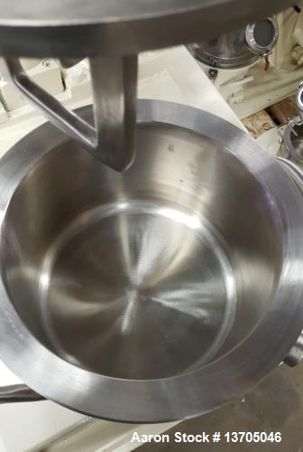Used- Ross Double Planetary Mixer, Model LDM-1. 1 gallon capacity, vacuum. Stainless steel construction, stainless steel jac...