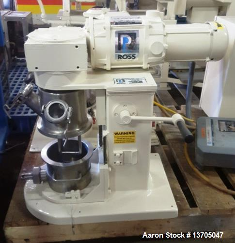 Used- Ross Double Planetary Mixer, Model LDM-1QT. Vacuum, sanitary stainless steel construction. 1/2 to 1 quart mixing capac...