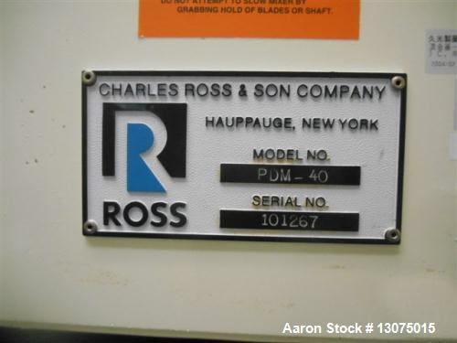 Used- Ross PDM 40 Planetary Mixer with Disperser.